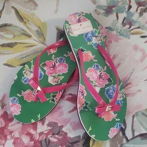 Kate Spade Pink Bow Flip Flops Size 7